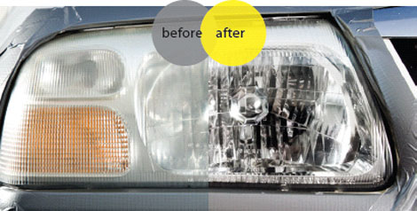 Polishing head lights